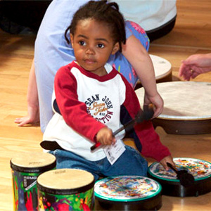 Young Girl with drums